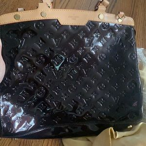 Black embossed bag, tote, shoulder bag